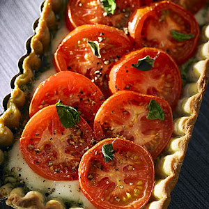 Tomato Basil Tart with Herb Crust