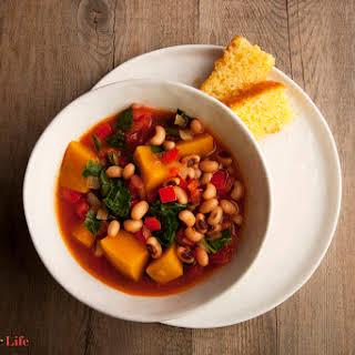 Black Eyed-Pea & Pumpkin Stew.