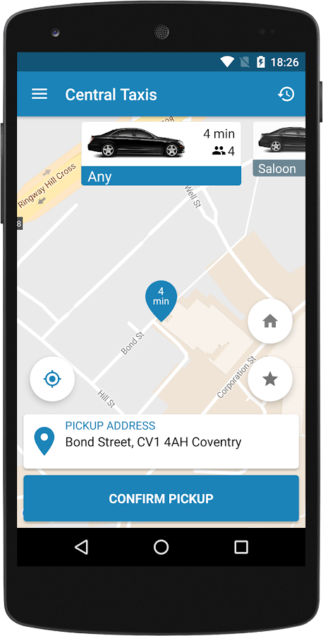 Central Taxis Coventry- screenshot