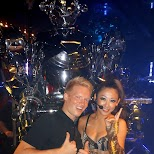 matt & the announcer at the Robot Restaurant in Kabukicho in Kabukicho, Tokyo, Japan