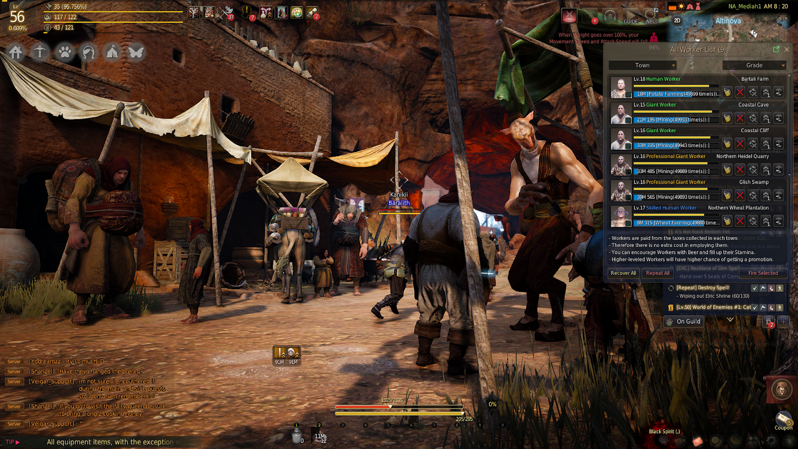 Black Desert Online: How to Use Nodes and Workers   Bananatic