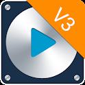 Skin Metal Blue for PlayerPro icon