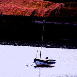 Reflective  times by Gordon Simpson - Transportation Boats