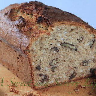 Banana Bread with Coconut and Pecans.
