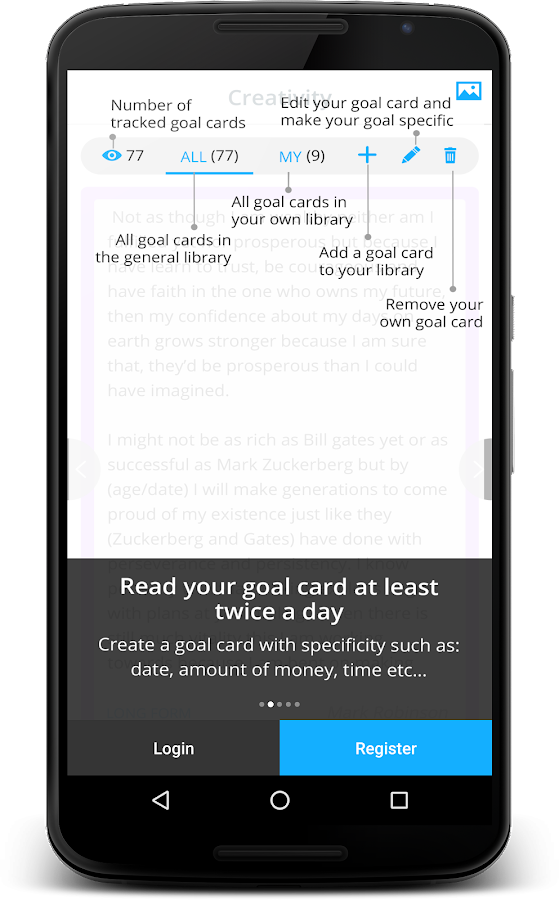 iGoalCard- screenshot
