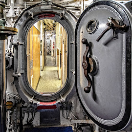 Through the Hatch by Richard Michael Lingo - Buildings & Architecture Other Interior ( submarine, hatch, texas, architecture, interior )