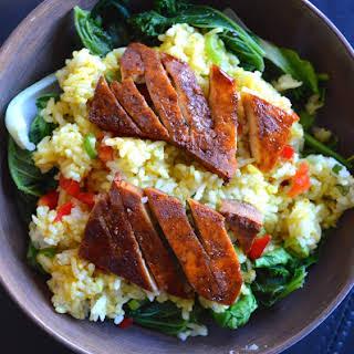 Curry Rice + Sweet & Smoky Tofu.