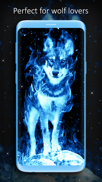 Ice Fire Wolf Wallpaper Android Apps Appagg