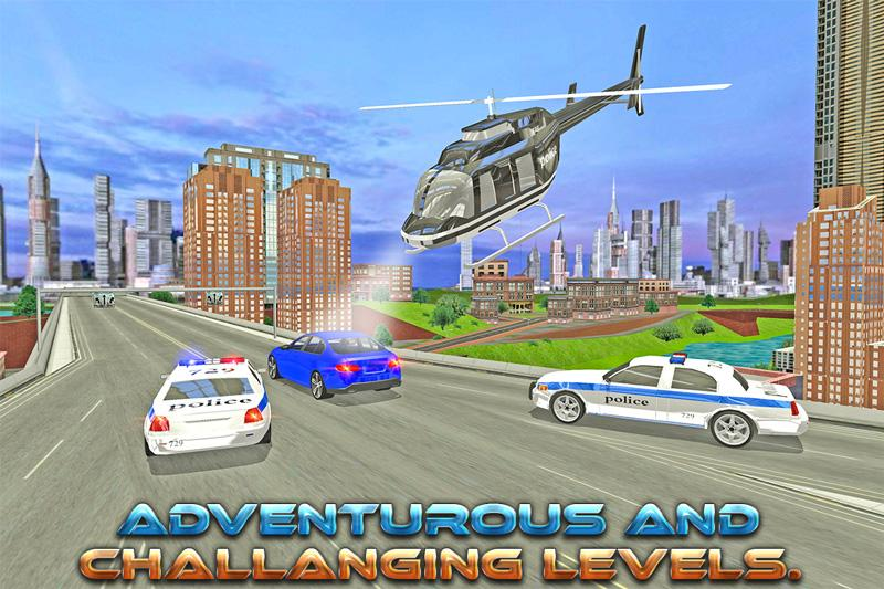 Crime Chase Police Helicopter- screenshot