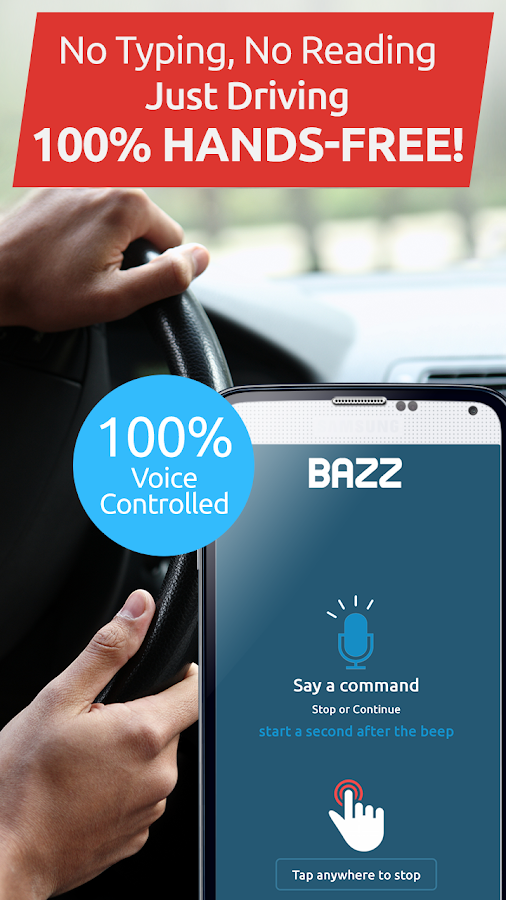 BAZZ Text While Driving Safe- screenshot