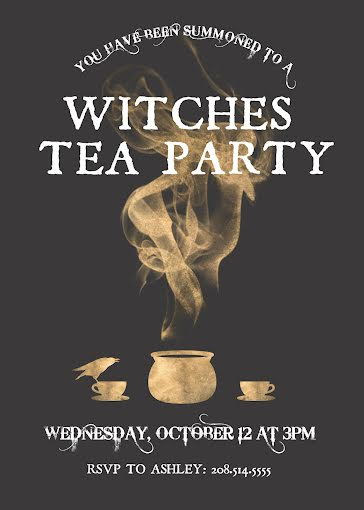 Witches Tea Party - Halloween Template