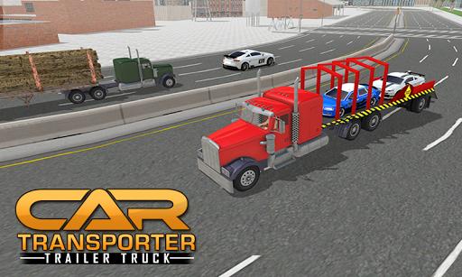 カートランスポーターのトレーラートラック