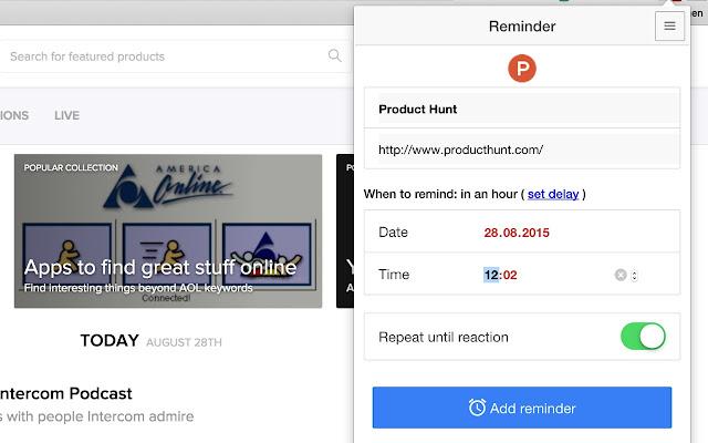 Web Reminder