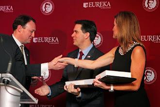 Photo: John Morris, Governor Scott Walker, and Peggy Grande