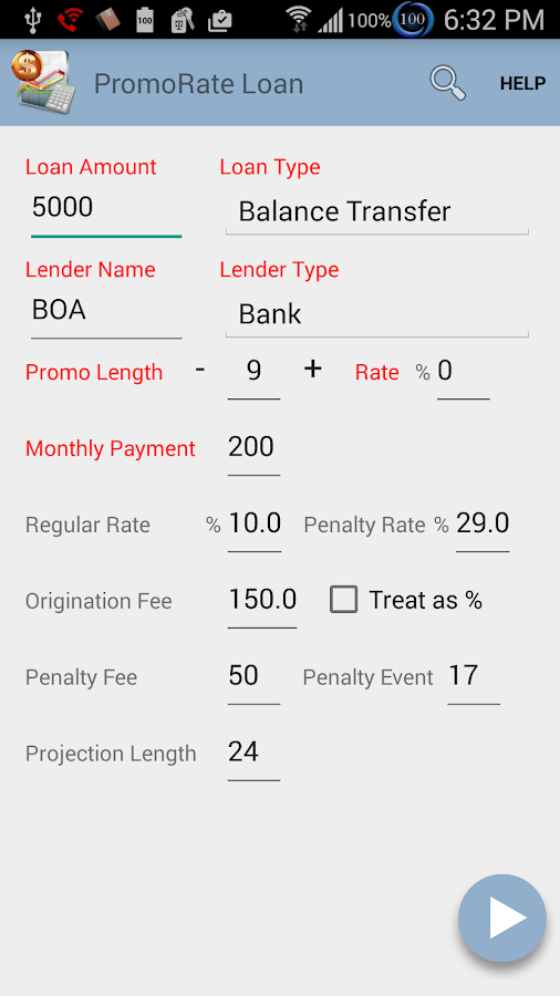 Loan Calculator- screenshot