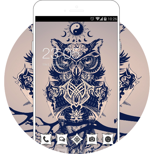 Vintage Animal Theme: Owl wallpaper art