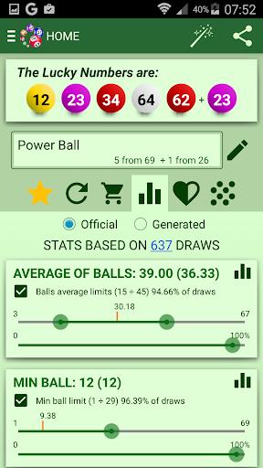 Lottery Statistics Generator screenshot
