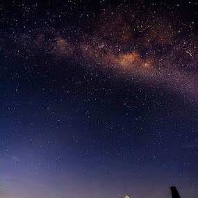 MILKYWAY OVER BOROBUDUR by Alfon Adalah Klepon - Landscapes Starscapes ( milkyway, starscapes, borobudur,  )