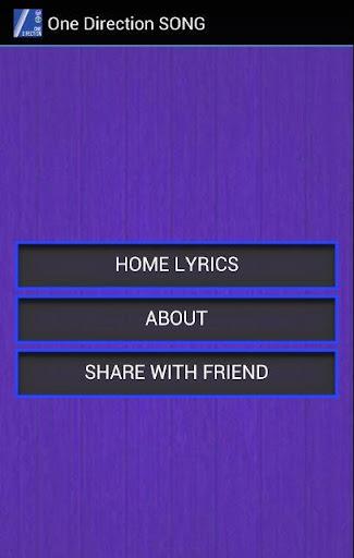 One Direction Home Lyrics