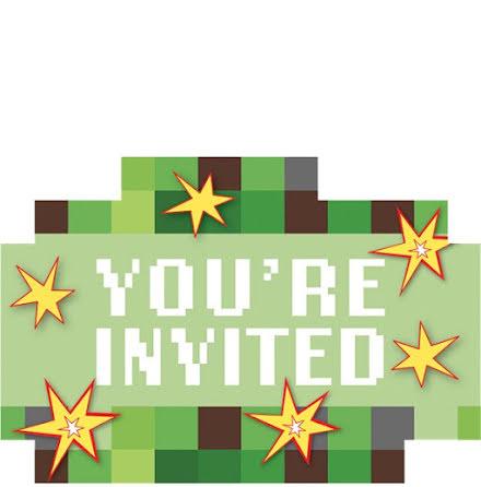 Inbjudningskort TNT-party