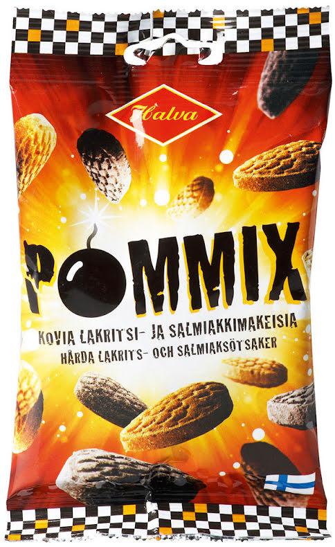 Pommix - hårda lakrits- och salmiakkarameller – Halva lakrits