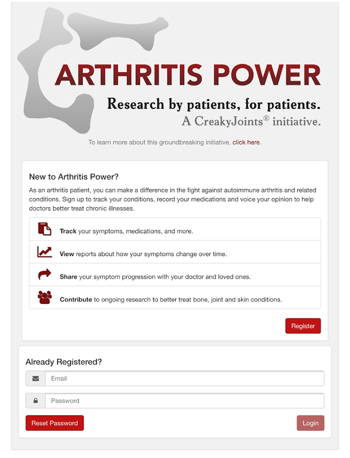 ArthritisPower- screenshot