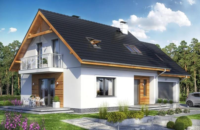 Projekt domu Pinczer 4 z garażem 2-st.
