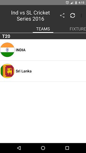 India v Sri Lanka 2016 Live