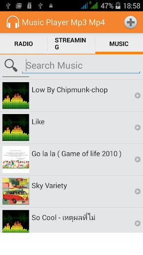 Radio Music Player MP3 Volume