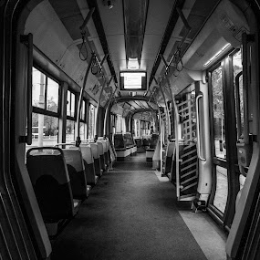 Tram in Warsaw by Hadinur Jufri - Transportation Other ( hadinur, canon, interior, palac, kultury, 10mm, warsaw, poland, trem )