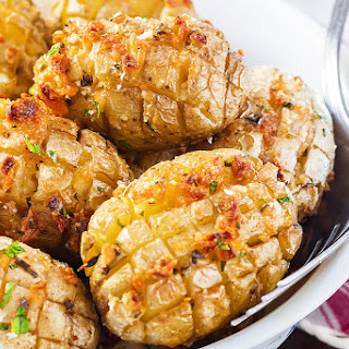 Cheesy Garlic Roasted Potatoes.