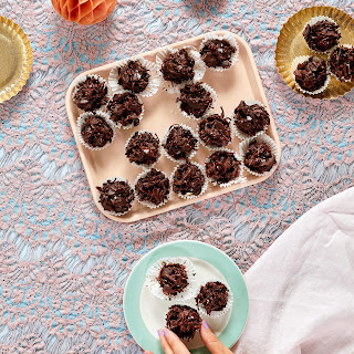 Toasted Coconut & Almond Chocolate Clusters.