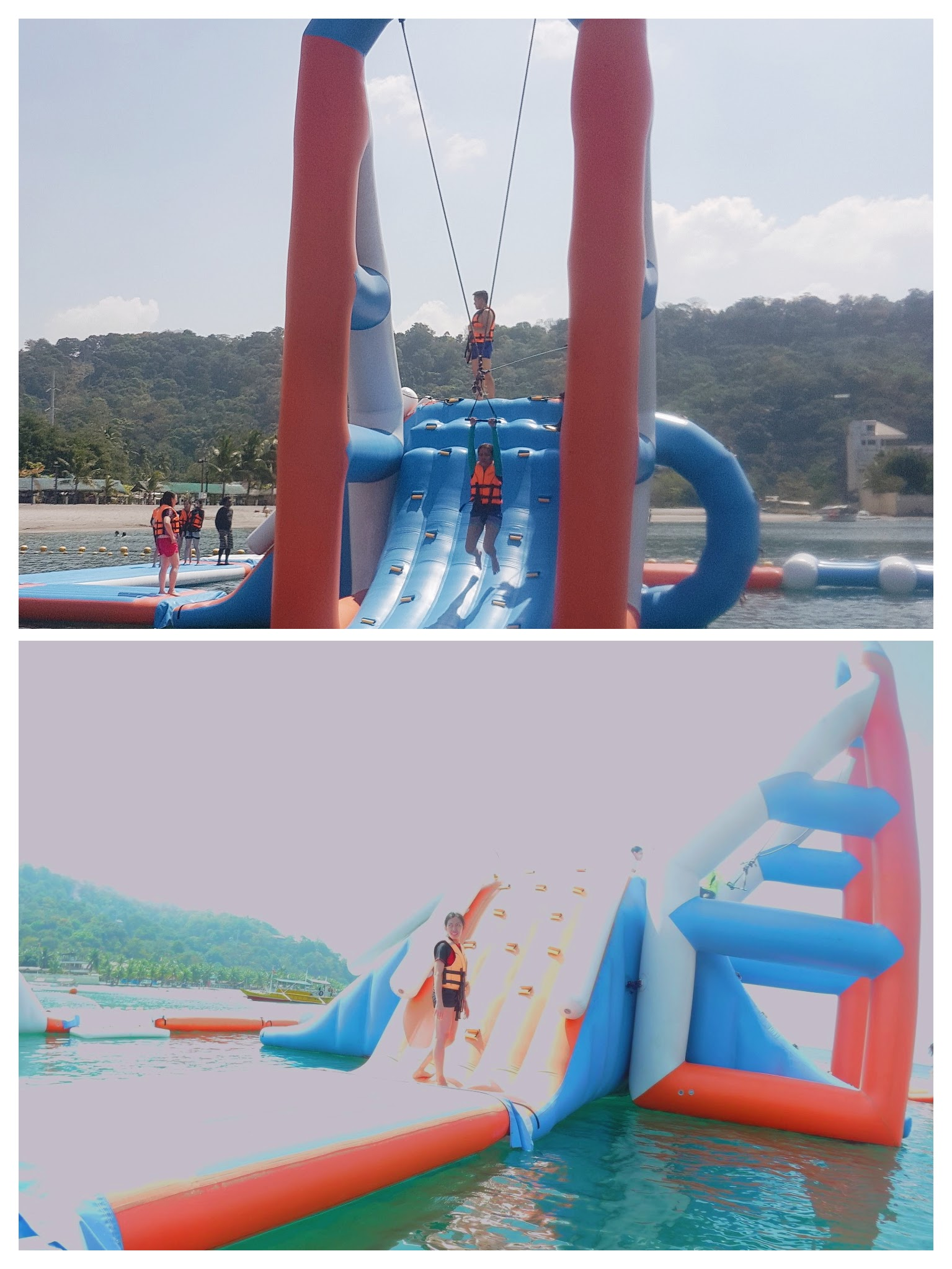 The Biggest Floating Playground in Asia: Inflatable Island in Subic - launchers and obstacles| www.wearejuanderers.com