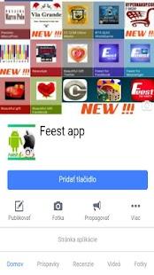 Feest app Social - náhled