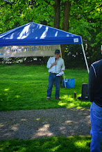 Photo: Dennis Robertson of WRIA-9 and Tukwila City Council talking about the importance of advocating for our river!