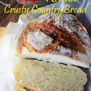 CRAZY EASY, NO KNEAD CRUSTY ARTISAN BREAD! Recipe