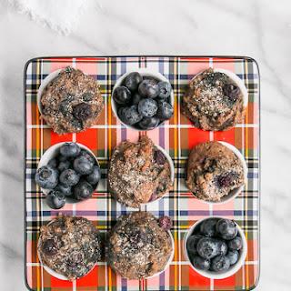 Mini Blueberry Buckwheat Muffins.