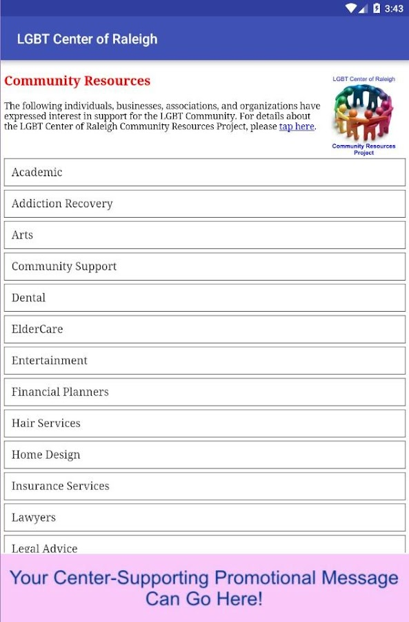 LGBT Center of Raleigh- screenshot