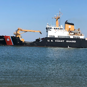 Bogue Banks Coast Guard by Theo Staszko - Transportation Boats