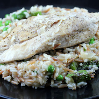 Chicken with Rice and Spring Vegetables