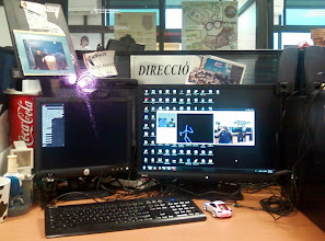 Photo: Kinect on my workstation