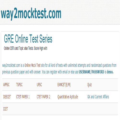 Way2mocktest Free Mock Test