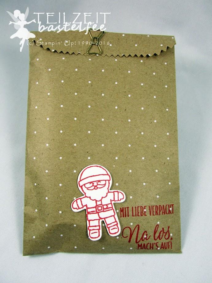 Stampin' Up! – Christmas, Weihnachten, Ausgestochen weihnachtlich, Cookie Cutter Christmas, Drauf und Dran, Tin of Tags, Framelits Stickmuster, Stitched Shapes, Geschenktüte