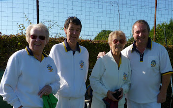 Photo: Also 9.30am start for the Mixed Pairs- Ann Armstrong and Ken Walker against Tricia Ellis and Jon Broomfield
