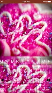 Pink Crystal Keyboard Themes - náhled