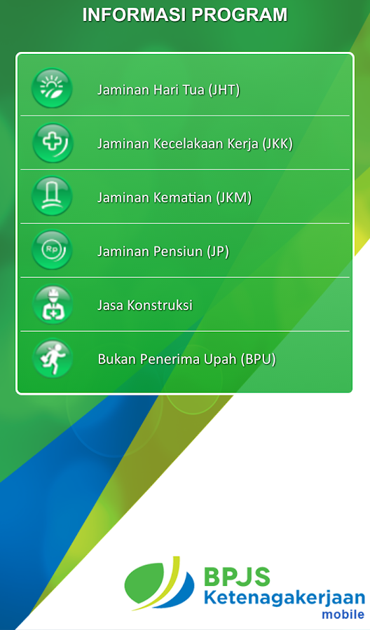 BPJSTK Mobile- screenshot