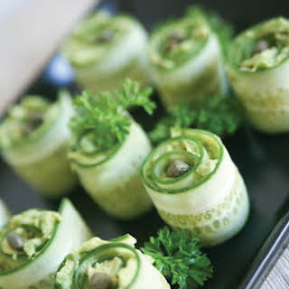 CUCUMBER ROLLS HORS D'OEUVRES.
