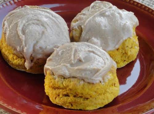 "Pumpkin Whole Wheat Fluffy Biscuit ""I was thinking about an individual pumpkin..."