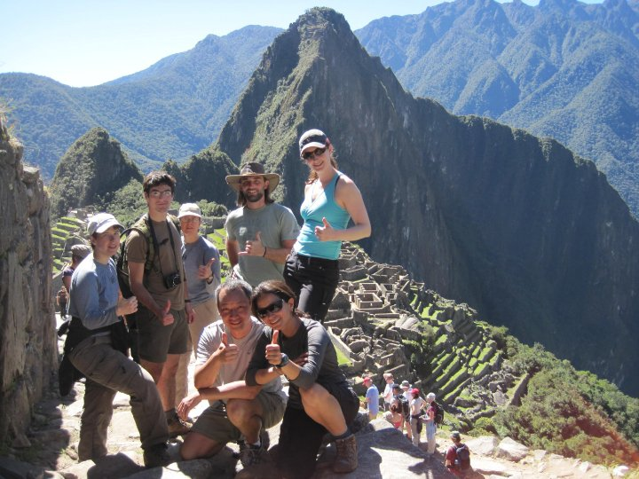 Photo: Machu Picchu with the group. <3 A bunch of awesome people.