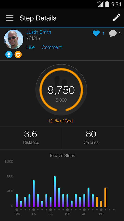 Garmin Connect™ Mobile- screenshot